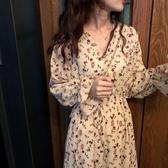 2020年新款女裝胖mm初春法式洋氣顯瘦洋裝子碎花遮肚子兩件套裝 草莓妞妞