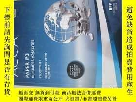 二手書博民逛書店ACCA罕見P3 Business Analysis (Stud