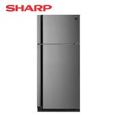 [SHARP 夏普]583公升 炫銀鋼板 變頻雙門電冰箱 SJ-SD58V-SL【加贈 奇美14吋DC立扇 DF-14G0ST】