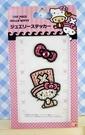 【震撼精品百貨】ONE PIECE&HELLO KITTY_聯名海賊王喬巴&凱蒂貓系列~亮鑽貼紙-KITTY蝴蝶結