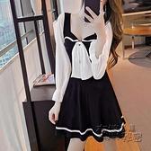 春秋夜場性感心機復古V領洋裝收腰顯瘦打底赫本小黑裙冬 衣櫥秘密