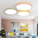 創意個性客廳臥室陽臺吸頂燈 北歐實木圓形燈飾 現代簡約LED燈具(定金鏈接,下標前洽談)