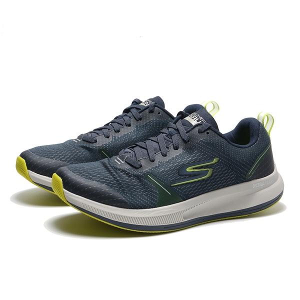 SKECHERS 休閒鞋 GO RUN PULSE SPECTER 丈藍 綠 灰底 (布魯克林) 220022NVLM