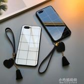 oppor15手機殼格子oppor11簡約情侶r11s玻璃r9s掛繩r15標準夢境版防摔r9plus『小宅妮時尚』
