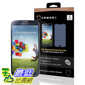 Armorz  Screen Protector for Samsung Galaxy S4 (Two Pack) (Anti-Glare) 美國隱形神盾級 螢幕保護貼 $787