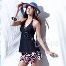 ☆小薇的店☆MIT聖手品牌俏麗花朵圖騰時尚二件式泳裝特價1380元 NO.A92620(M-XL)