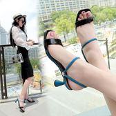 高跟拖鞋 女夏2018新款時尚外穿細跟簡約兩穿高跟韓版百搭中跟涼拖  HH187 【潘小丫女鞋】