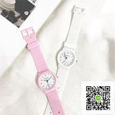 手錶 糖果色果凍軟妹可愛小清新原宿手錶日繫粉色女生中學生硅膠電子表 歐歐流行館