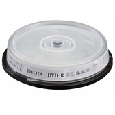 DIOO 8X DVD+R DL8.5G 10片桶裝【愛買】