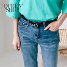 Queen Shop【07100085】質感金色小圓釦百搭皮帶*現+預*