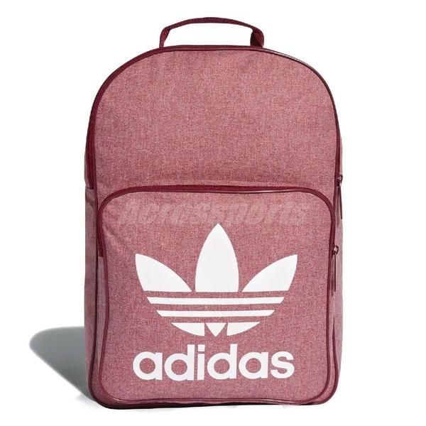 adidas 後背包 Trefoil Casual Backpack 三葉草 復古 雙肩背 包包 書包 紅 【ACS】 D98924
