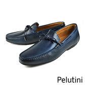 【Pelutini】雅痞時尚樂福鞋 深藍(7808-NA)