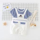 嬰兒衣 嬰兒夏裝男新生的兒寶寶衣服女連體衣包屁哈衣爬行服嬰幼兒薄款 玩趣3C