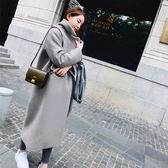 長板外套大衣【加絨保暖】 高質感有型 中長版毛呢外套 大衣