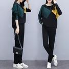 大碼長袖套裝 兩件套女秋裝新款韓版時尚運動休閑寬松顯瘦秋季闊腿褲1F159 胖丫