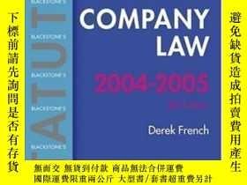 二手書博民逛書店Statutes罕見On Company Law 2004-2005 (blackstone s Statute