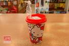 Hello Kitty 凱蒂貓 飲料杯雙孔削筆器 紅 957281