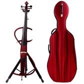 ★展示品出清★JYC 靜音大提琴(紅)展示品~附贈大提琴硬盒!