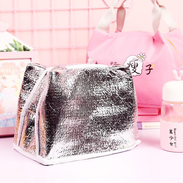 加厚鋁箔保溫袋便當袋帆布大號帶飯的手提袋女拎防水飯盒袋保溫包