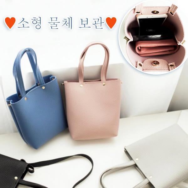 [逛街必備] 韓國 浪漫氣質 小方包 手提 手機包 單肩 斜背包 肩背 可放零錢包 長揹帶 小托特包