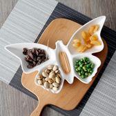 盤子拼盤創意陶瓷盤子異形酒店餐盤個性蝴蝶菜飯盤水果盤家用餐具    萌萌小寵