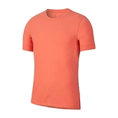Nike AS M Dry Top SS Yoga 男 橘 運動 排汗 短袖 BV4035-814