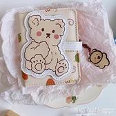 韓國ins簡約小巧卡通可愛軟萌小熊短款錢包女學生摺疊PU三折卡包 怦然心動
