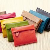 短夾 壓紋拉鏈搭釦皮夾卡包錢包短夾【CLPL-604】 ENTER  12/22