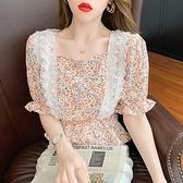 短版上衣~小可愛娃娃衫~小尺碼短袖襯衫~V領襯衫~娃娃衫~泡泡袖女短袖上衣9853.GD659D日韓屋