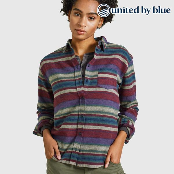 United by Blue 女棉絨長袖襯衫 201-069 Striped Flannel Shirt / 城市綠洲 (有機棉、環保、無化學物、美國)