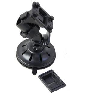 【世明國際】迷你黑皮導航一體機支架 電子吸盤雙接頭導航連接導航一套支架