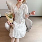 洋裝連身裙S-XL新款法式改良旗袍連衣裙A字氣質時尚中長裙NE326-6652.胖胖唯依