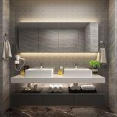 北歐實木浴室櫃組合現代簡約衛生間洗手台洗臉盆櫃洗漱台   汪喵百貨