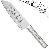 【南紡購物中心】日本東亞金屬TOA三德包丁mere pere貓咪輕型三德菜刀770-315(輕量型;一體成型)