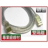 i-wiz USB2.0 A公-A公鍍金透明強化線 1.8米