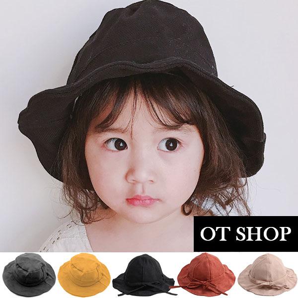 [現貨]兒童帽子 棉質透氣內裡 遮陽帽 海灘帽 素面 蝴蝶結 防曬 旅遊 親子穿搭 C5017 C5018 OT SHOP