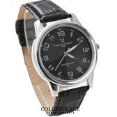 Valentino范倫鐵諾 光碟錶盤設計真皮手錶腕錶 情人對錶【NE1090】原廠公司貨