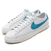 Nike 休閒鞋 Blazer Low Leather 白 藍 膠底 男鞋 女鞋 基本款 【ACS】 CI6377-104