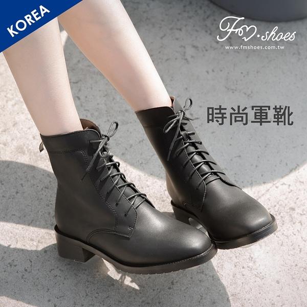 靴.後拉鍊方頭軍靴-大尺碼-FM時尚美鞋-韓國精選.Subtle