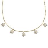 SWAROVSKI 施華洛世奇 LISABEL璀璨水晶六角形可調節金色項鍊頸鍊