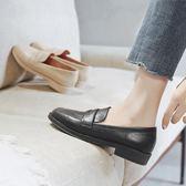 小紅人單鞋女2019新款百搭韓版INS小皮鞋復古英倫風樂福鞋一腳蹬