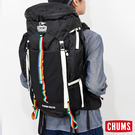 CHUMS 日本 Spring Dale 系列 露營登山背包 50L 附雨罩 黑/彩虹 CH602067K001