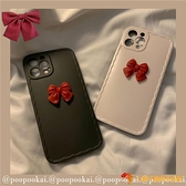 日系蝴蝶結少女蘋果12/11pro/max手機殼iphone7軟8plus/xr夜市量販【小獅子】
