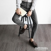 西裝褲西褲男休閒薄款長褲修身小腳男士黑色西裝褲免燙復古休閒褲子 傑克型男館
