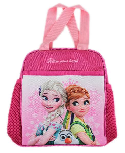 【卡漫城】 冰雪奇緣 便當袋 粉 綠衣 ㊣版 手提袋 拉鍊式 餐袋 Frozen 雪寶 安娜 艾莎 Elsa Anna