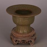 宋 耀州窯青釉刻花渣肚 仿出土舊貨瓷器古玩古董裝飾收藏擺件品