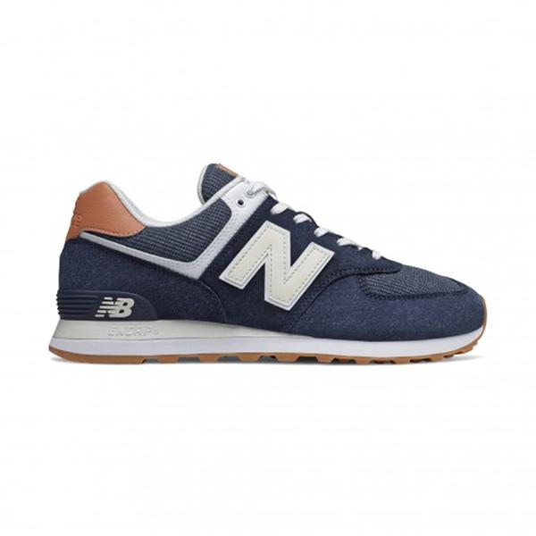 New Balance-574系列男女款復古深藍休閒鞋-NO.ML574TYA