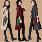 外套開衫外套女毛衣中長款裝女裝韓版羊毛針織衫外搭早【快速出貨】