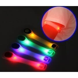 多功能反光環 兩件式LED發光綁帶 魔鬼沾 多色發光帶 登山/跑步/騎車/背包等適用 E-31