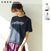 美國棉 LOGO印花 女T恤免運費 日本品牌【coen】